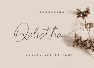 Qalistha Font