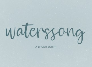 Waterssong Font