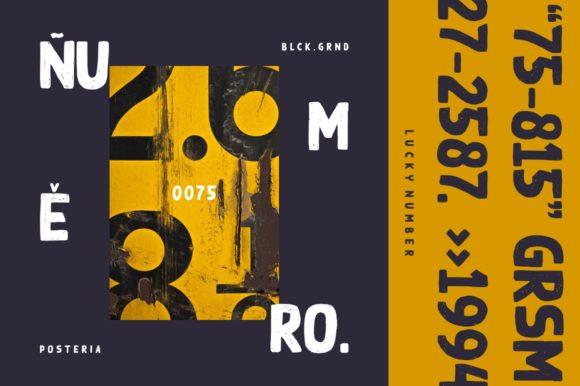 Black Ground Font
