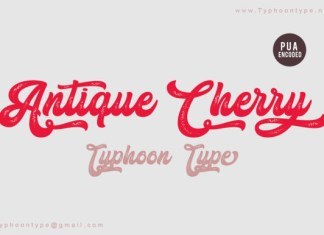 Antique Cherry Font