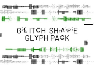 Glitch Shape Font
