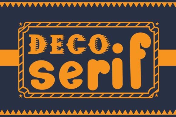 Deco Serif Font