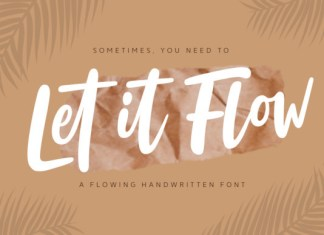 Let It Flow Font