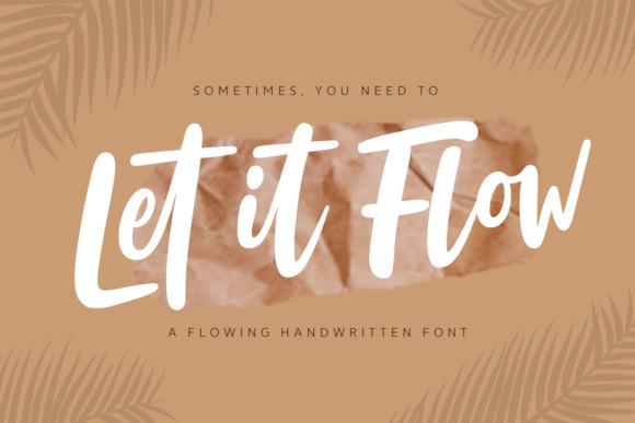 Let It Flow Font