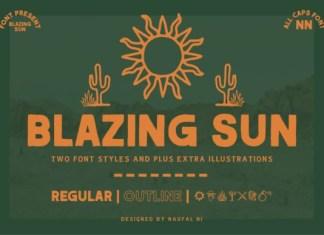 Blazing Sun Font