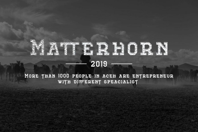 Matterhorn Font