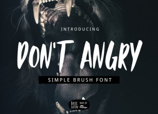 Don't Angry Font