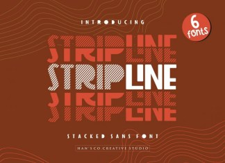 Strip Line Font