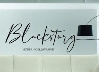 Blackstory Font