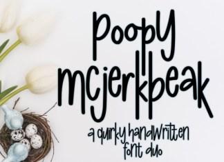Poopy McJerkbeak Font