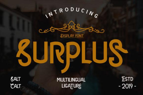 Surplus Font