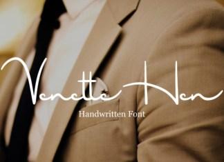 VenetteHen Font
