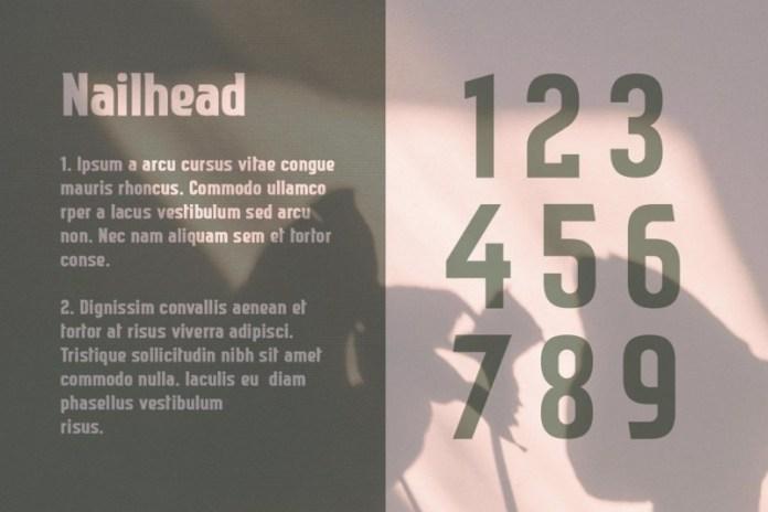 Nailhead Font