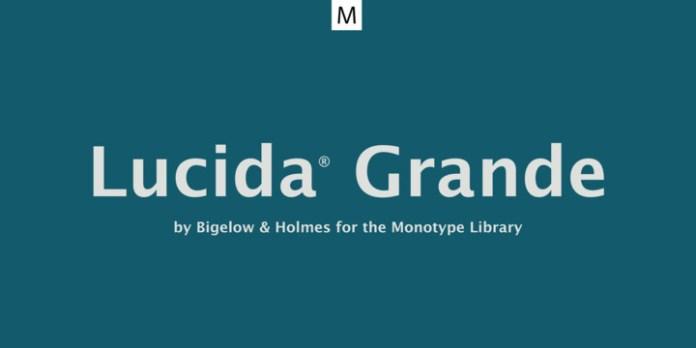 Lucida Grande Font