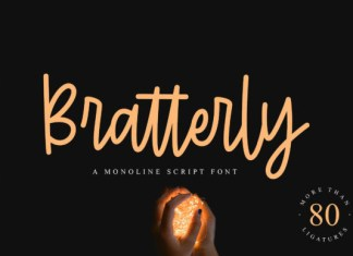 Bratterly Font