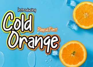 Cold Orange Font
