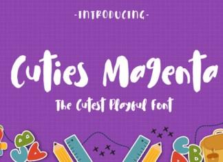 Cuties Magenta Font