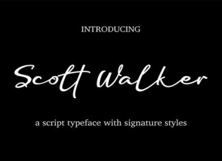 Scott Walker Font