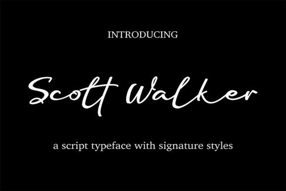 Scott Walker Font