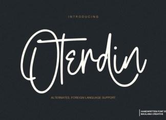 Oterdin Font