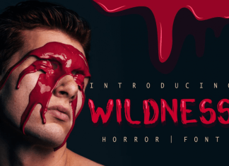Wildness Blood Horror Font