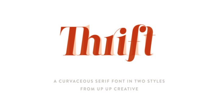 Thrift Font