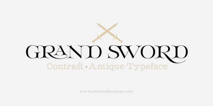 Grand Sword Font