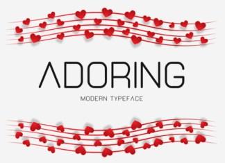 Adoring Font