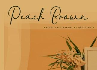 Peach Brown Font
