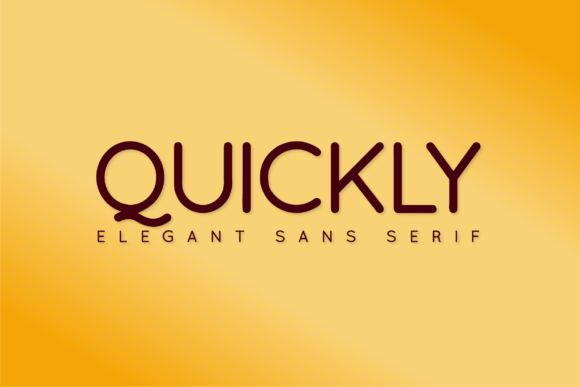 Quickly Regular Font