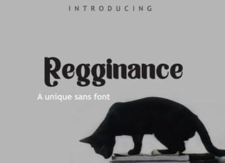 Regginance Font