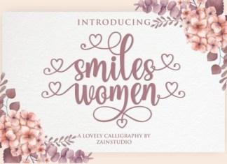 Smiles Women Font