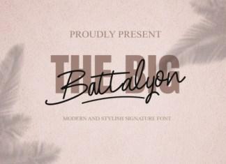 The Big Battalyon Font