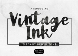 Vintage Ink Font