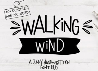 Walking Wind Font