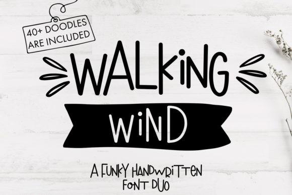 Walking Wind Font