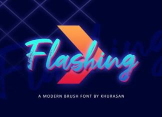 Flashing Font
