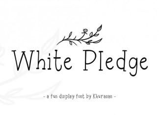 White Pledge Font