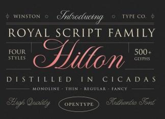 WT Hilton Font