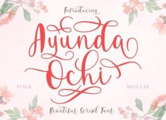 Ayunda Ochi Font