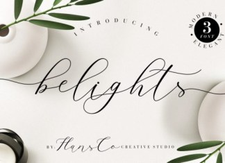 Belights Font