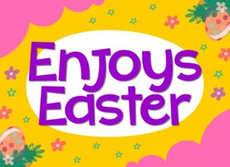 Enjoys Easter Font