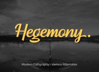 Hegemony Font