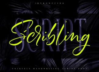 Scribbling Font