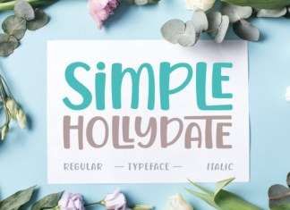 Simple Hollydate Font
