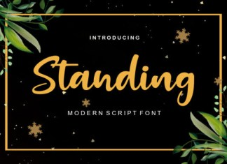 Standing Font
