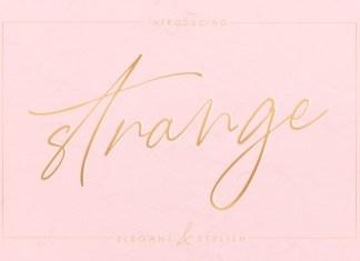 Strange Font