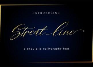 Streat Line Font