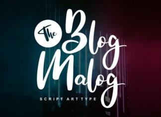 The Blog Malog Font