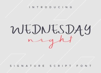 Wednesday Night Font